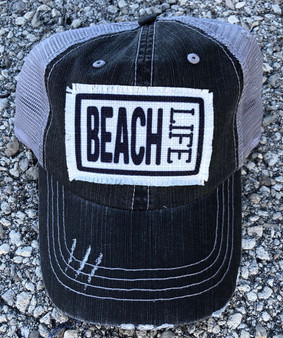 Printed Beach Life Patch Trucker Hat