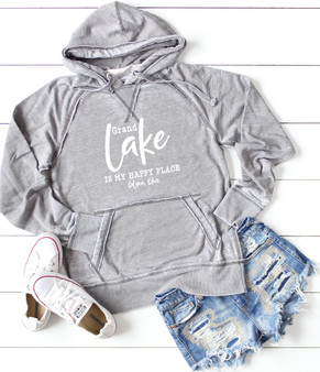Grand Lake is My Happy Place Celina, Ohio Softstyle Vintage Hoodie