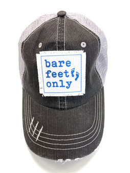 Bare Feet Only Patch Trucker hat