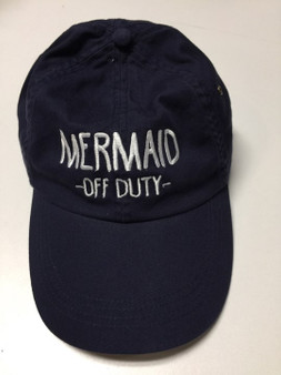 Mermaid -Off Duty- Embroidered Baseball Hat