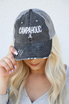 """CAMPAHOLIC"" Trucker hat"