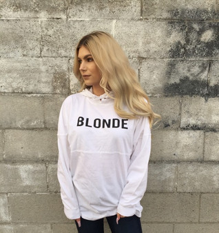 Blonde Resort Style Hooded Jersey Tee