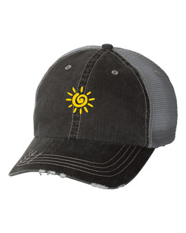 Sunshine Embroidered in Red Baseball Cap