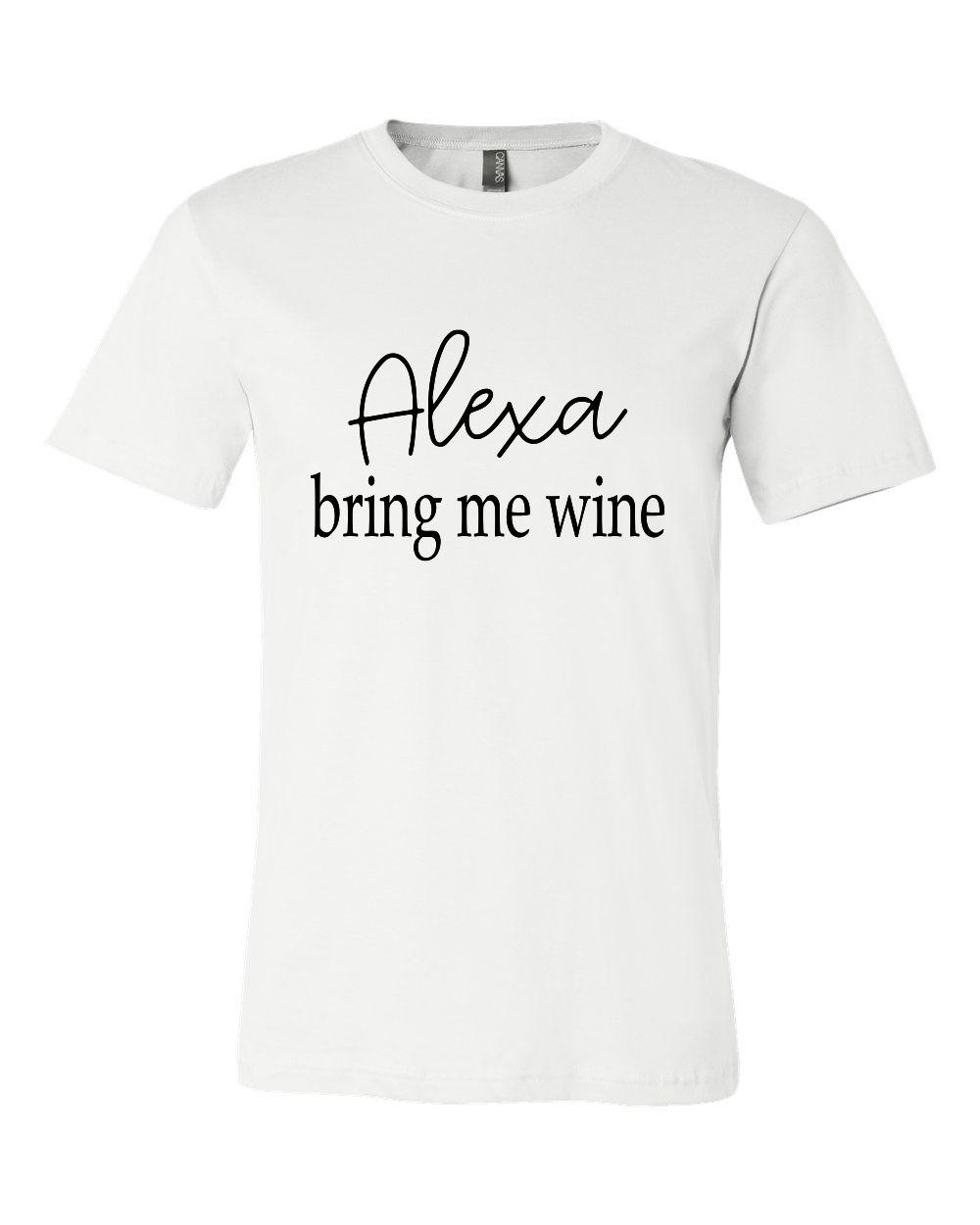 Alexa bring me wine Crew Neck Tee