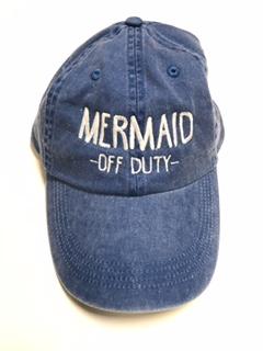 Mermaid Off Duty Embroidered Baseball Hat - Ocean   7th 430479373ee