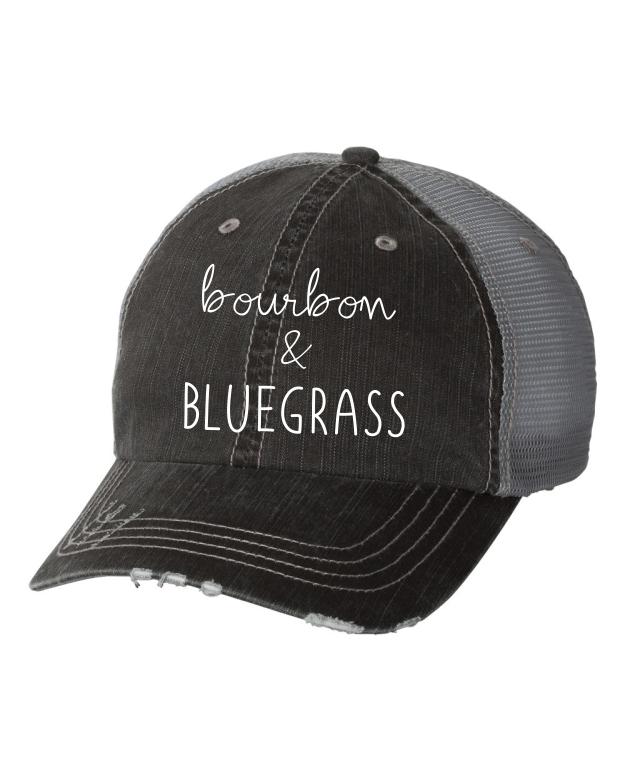 4a207b8fd65 bourbon   BLUEGRASS Kentucky Derby Embroidered Trucker Hat - Ocean   7th