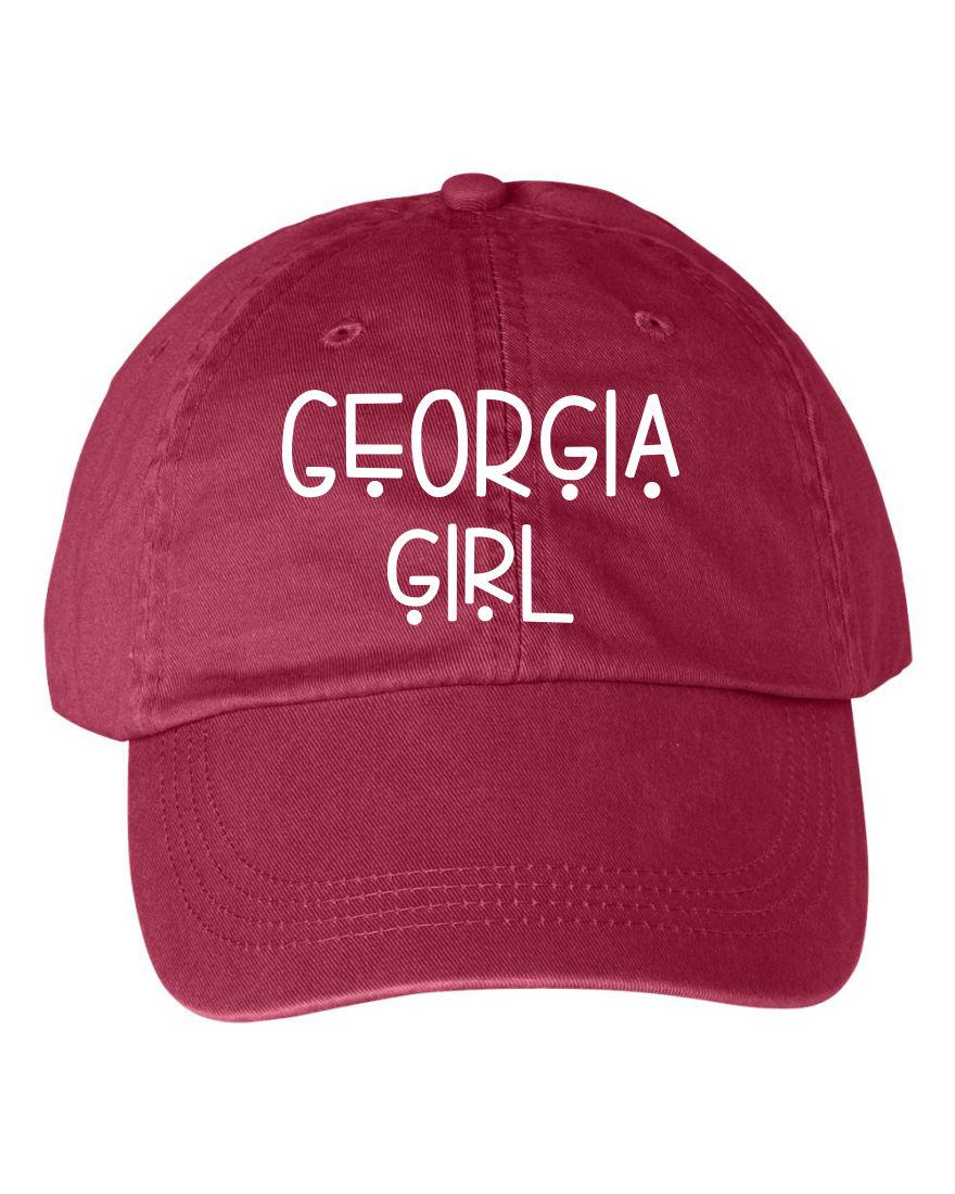 Georgia Girl Embroidered Baseball Hat - Ocean   7th 2e5ff684682