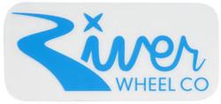 "River Wheels Rectangle Small Sticker 3"""