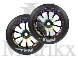 Lucky Ten 110mm Pro Scooter Wheels NeoChrome/Black (2 Wheels)