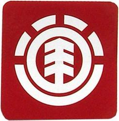 Element White On Red Logo Sticker