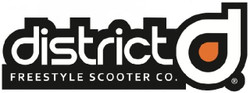District Scooters Logo Stickers 9""