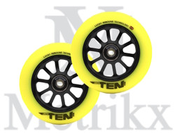 Lucky Ten 120mm Pro Scooter Wheel Hi-Liter Yellow/Black (2 Wheels)