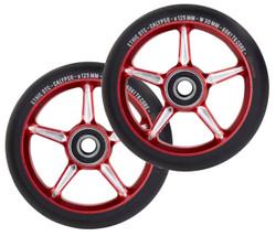 Ethic 12 STD Calypso Wheels 125mm Red/Black