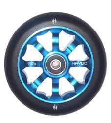 Havoc 110mm 8 Spoke Wheel  Black/Blue