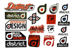 District Sticker Sheet Freestyle Scooter