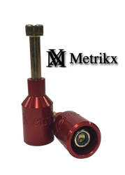 Metrikx Thunder Pegs Red With Gold Axle