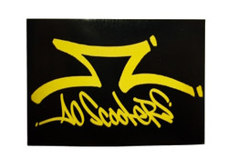 AO Rectangle Yellow/Black Sticker