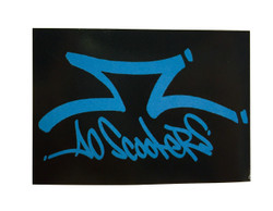 AO Rectangle Blue/Black Sticker