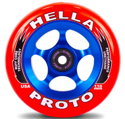 PROTO x Hella Grip Gripper Wheels - 110mm -red and blue