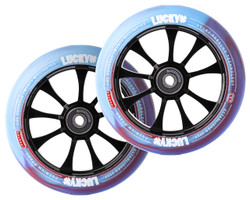 Lucky Toaster Wheels | 24mm X 120mm | Blue Swirl/Red (LUCSWR120)