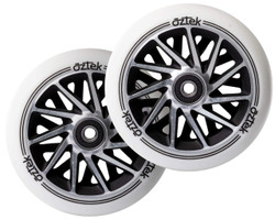 Aztek Ermine XL Wheels - 115mm x 30mm - White/Black