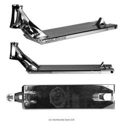 AO Worldwide Scooter Deck Chrome 5.8 X 21.5