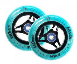 Havoc Storm Translucent Wheels - 110mm - Blue