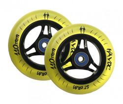 Havoc Storm Translucent Wheels - 110mm - Yellow