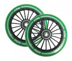 Aztek  Wheels - 110mm x 24mm - Green/Black