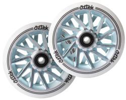 Aztek Ermine XL Wheels - 110mm x 30mm - White/Aqua