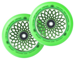 24mm x 110mm Lotus Wheels- Green/Green