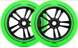 AO Mandala Wheel - 110mm-Black/Green