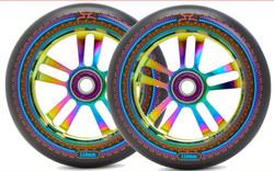 AO Mandala Wheel - 110mm-Black/Oil Slick