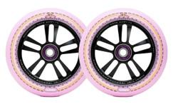 Mandala Wheel - 110mm-Black/Pink