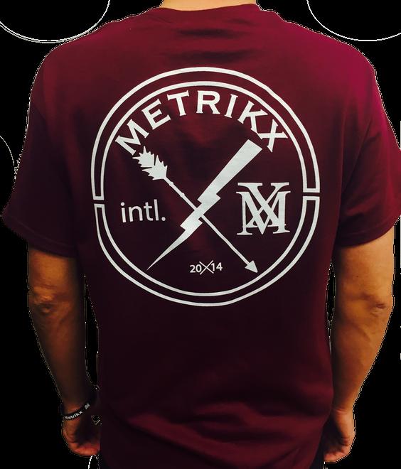 Metrikx Intl. T-Shirt Burgundy