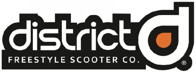 """District Scooters Logo Stickers 3.5"""" - Metrikx Scooters Canada"""