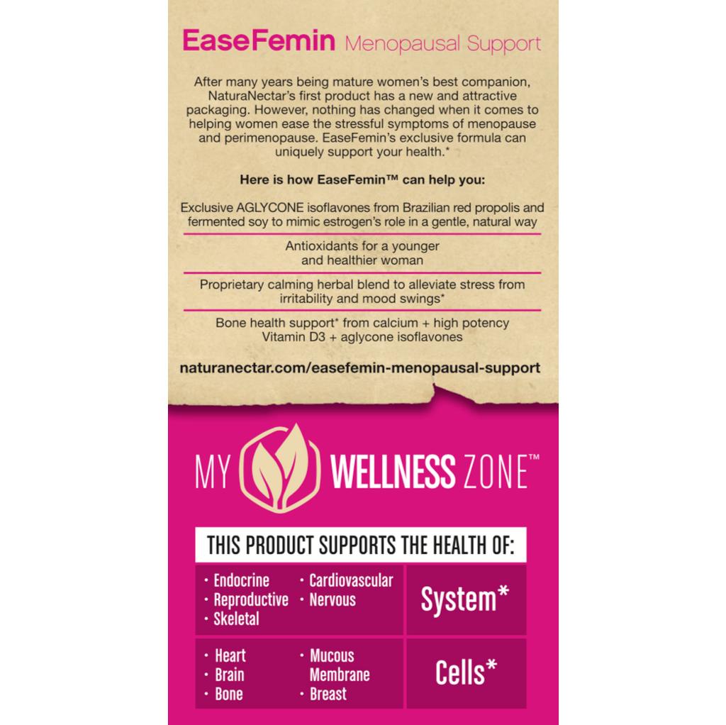 EaseFemin Menopausal Support Right Panel New