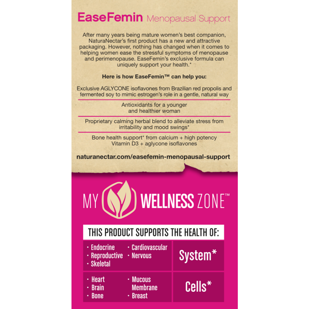 EaseFemin Menopausal Support Right Panel New
