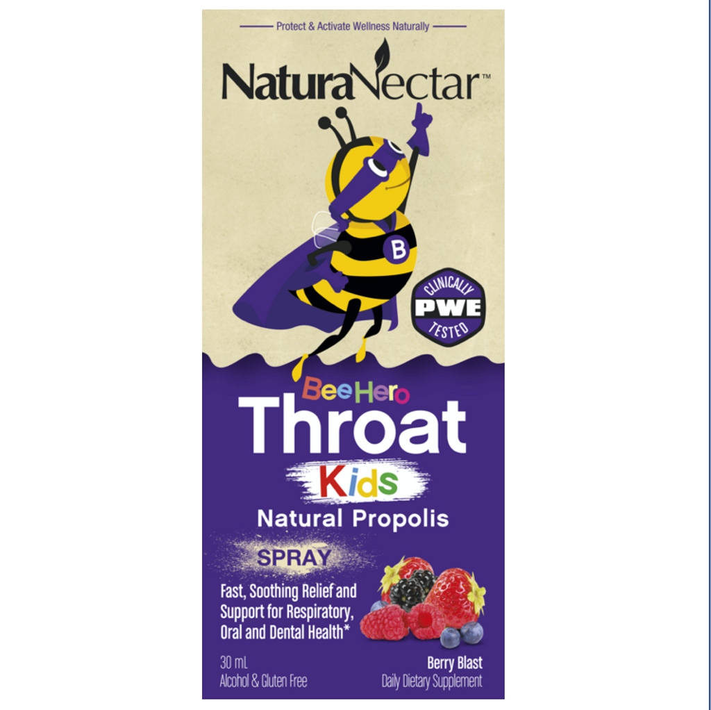 BeeHero™ Throat Kids Natural Propolis Spray_Front