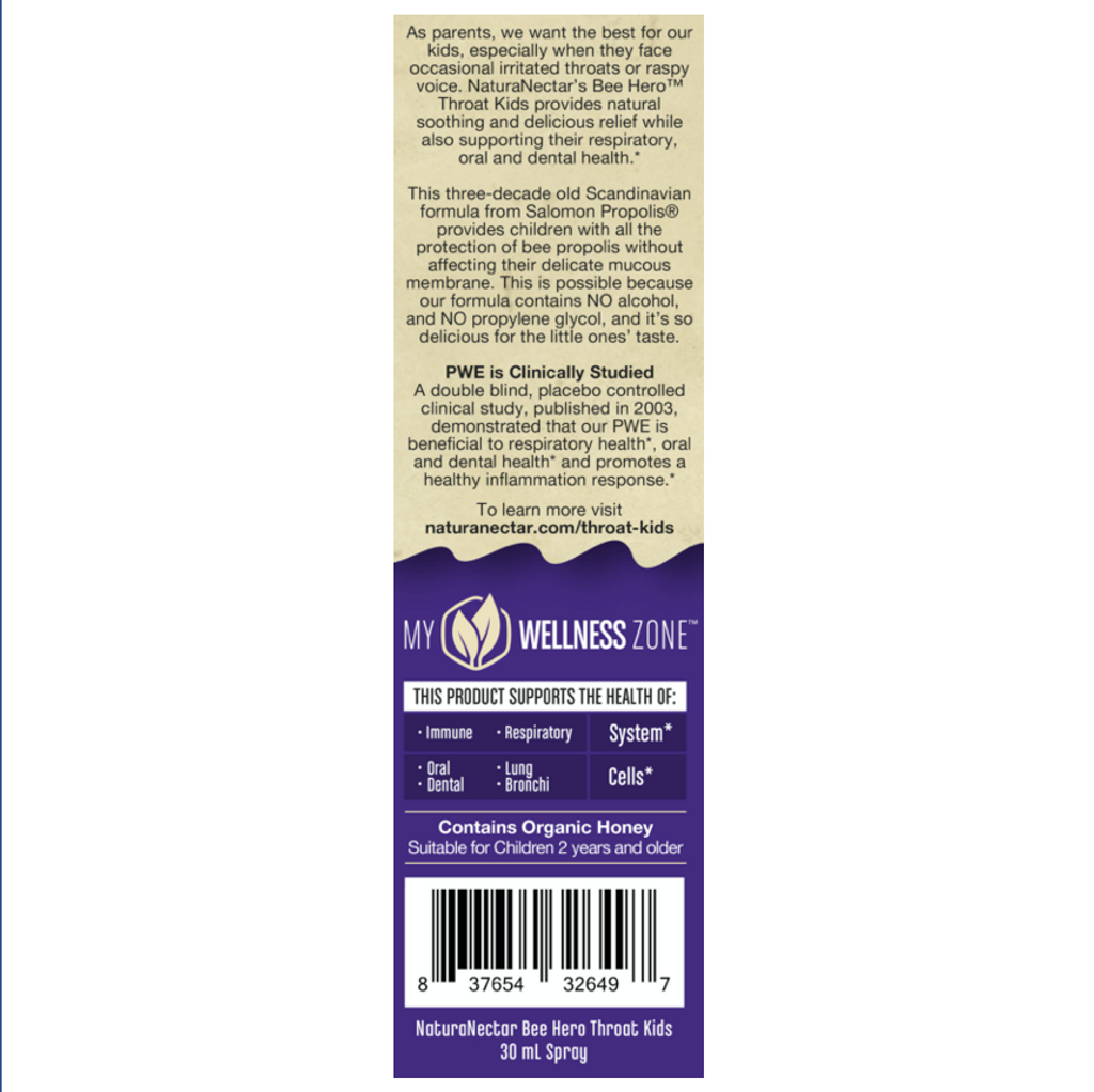 BeeHero™ Throat Kids Natural Propolis Spray_Left