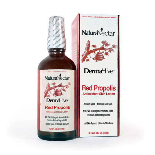 NaturaNectar DermaHive Red Propolis Antioxidant Skin Lotion
