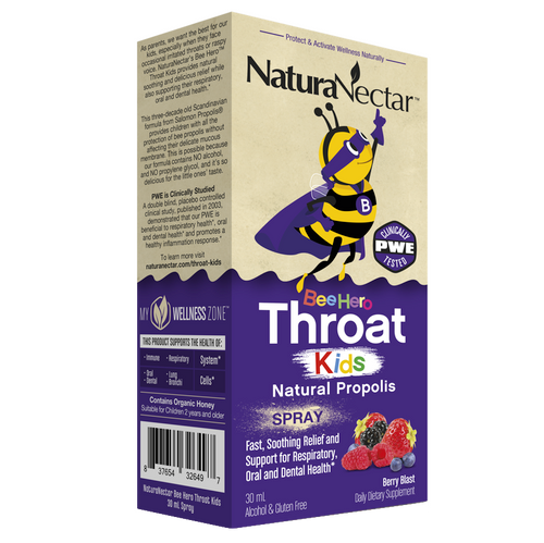 BeeHero™ Throat Kids Natural Propolis Spray_Box