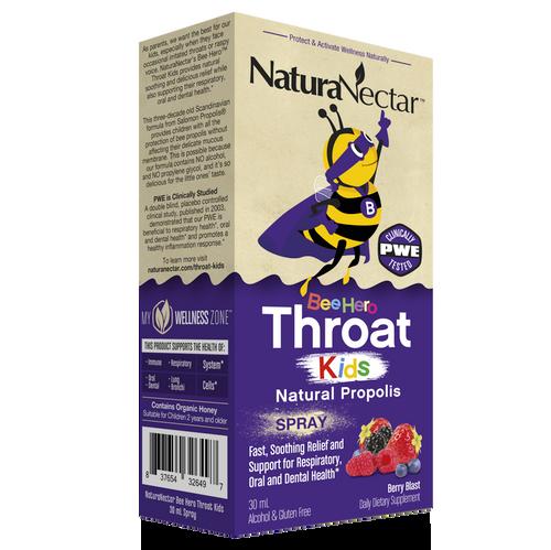 BeeHero™ Throat Kids Natural Propolis Spray_Box