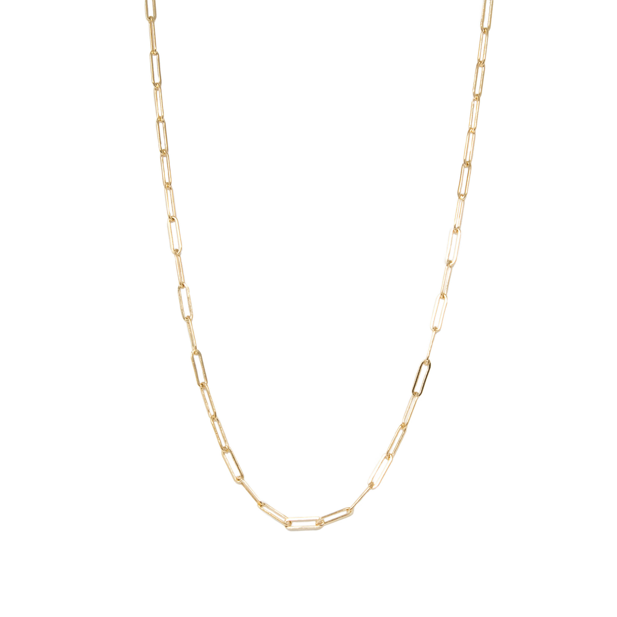 Katie Gold Filled Paperclip Chain Necklace