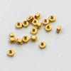 Hex Nuts; 1.2mm Thread Nickel Silver colored Gold 100 count (SM422G)