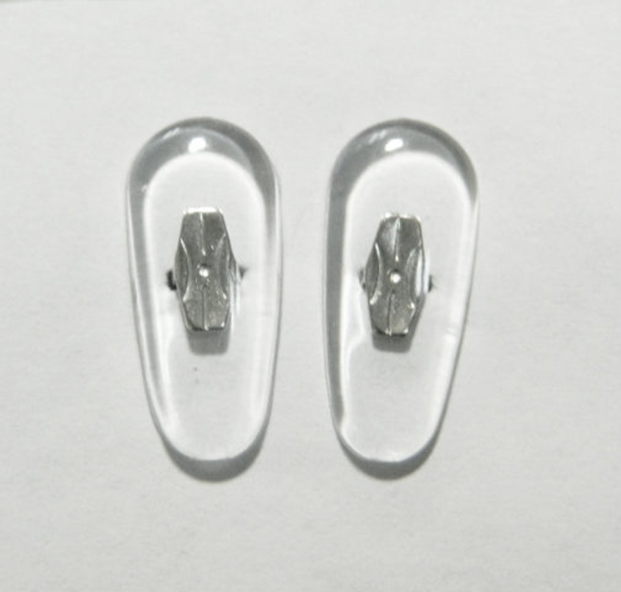 09dfec2898 Crimp-On nose pad 19mm length in Tear-drop shape made from PVC with ...