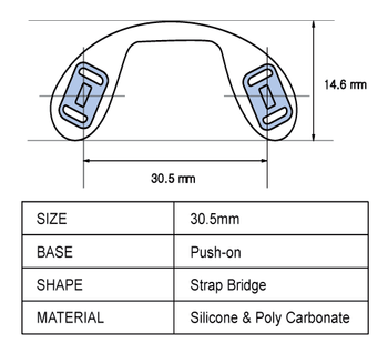 NP686 Push-On Silicone Saddle Strap Large 6 Pairs (NP686) Push-On Silicone Saddle Strap Large 6 pieces (38.5mm)