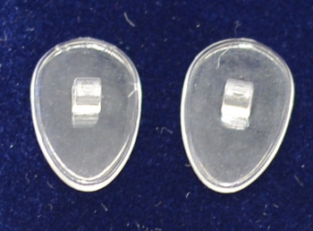 """Ultra-Thin Nose pad Clear PVC - Screw-On Tear-Drop 12mm 10 pair bag thickness is about .050"""" / 1.25mm.  This nose pad is Clear   Mix-N-Match   Specialty Nose Pads and Related items  $9.00 per bag on 2 to 4 bags, $8.50 on 5 to 9 bags and $8.00 on 10+ bags  Final price determined by """"Shopping Cart Total"""" of """"Specialty Nose Pads""""  Specialty Nose Pads and Related items including: Saddle Straps, Softwings, Slide-On mono pads, and more Packaged in various count bags see specific items' description"""