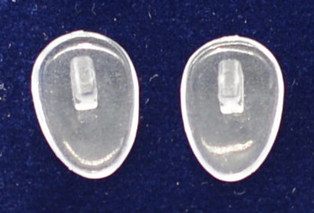"""Ultra-Thin Nose pad  Clear PVC - Push-On Tear-Drop 12mm  10 pair $9.95   Mix-N-Match   Specialty Nose Pads and Related items  $9.00 per bag on 2 to 4 bags, $8.50 on 5 to 9 bags and $8.00 on 10+ bags  Final price determined by """"Shopping Cart Total"""" of """"Specialty Nose Pads""""  Specialty Nose Pads and Related items including: Saddle Straps, Softwings, Slide-On mono pads, and more Packaged in various count bags see specific items' description"""