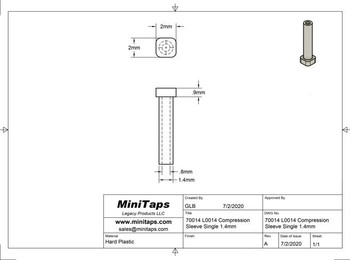 Mounting Sleeve - Single   L0014; 1.4mm Prong (Silhouette)